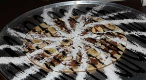 Bardak - Chocolate and Mascarpone Cheese Pizza